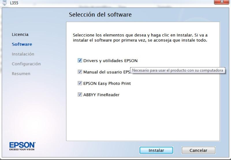 CD de DRIVER's CONTROLADORES - Impresora EPSON L355 [Español, multi-idiomas] 1 link Impresora+EPSON
