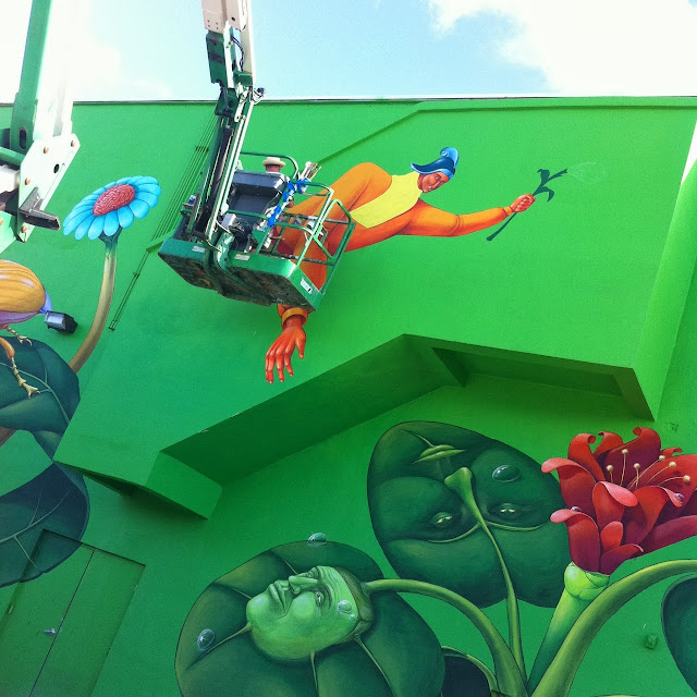 Work In Progress By Ukrainian Street Art Duo Interesni Kazki In Miami, USA. 3
