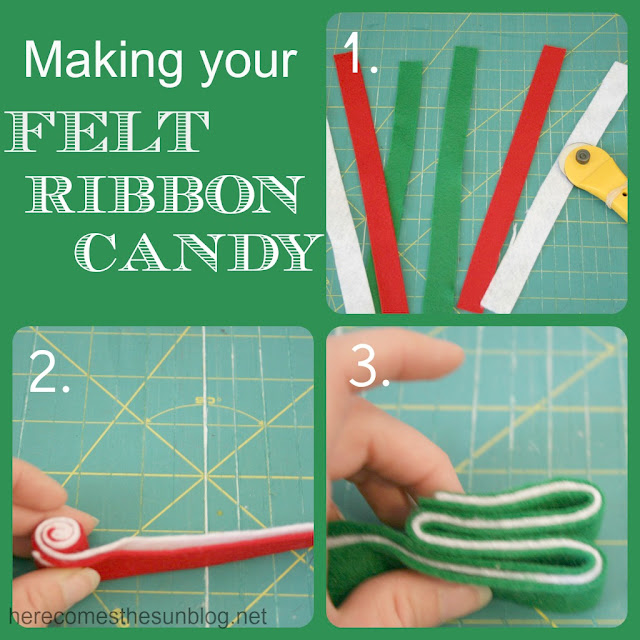 felt ribbon candy directions