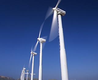 molinos eolicos en accion