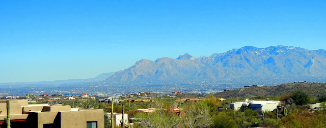 Tucson, surrounded by mountains