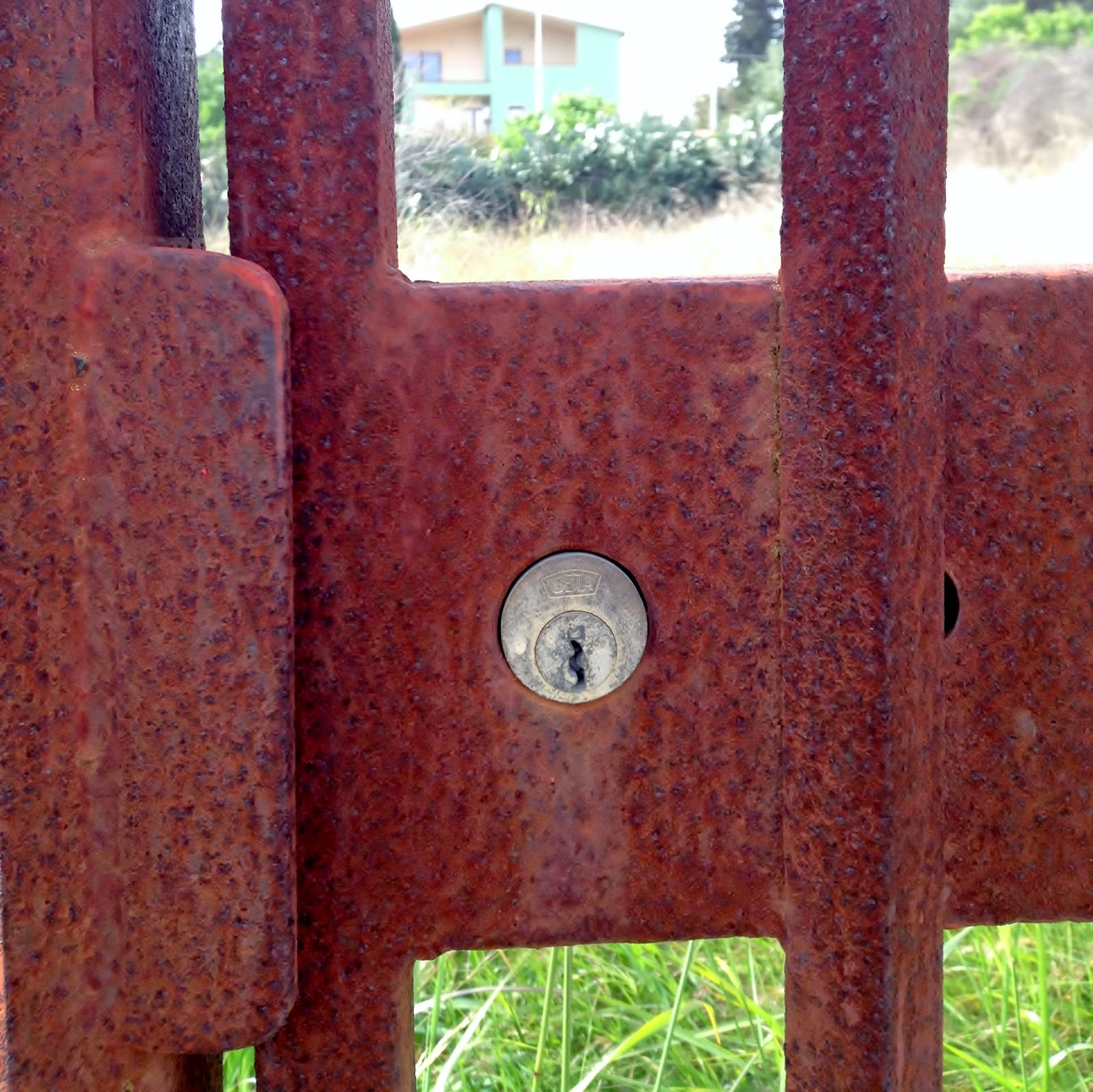 Rusted gate lock - Sardinia