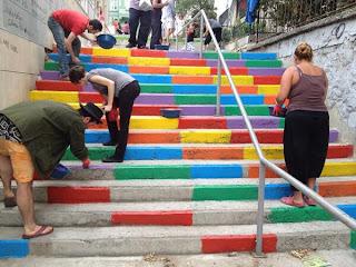 rainbow stairs cihangir