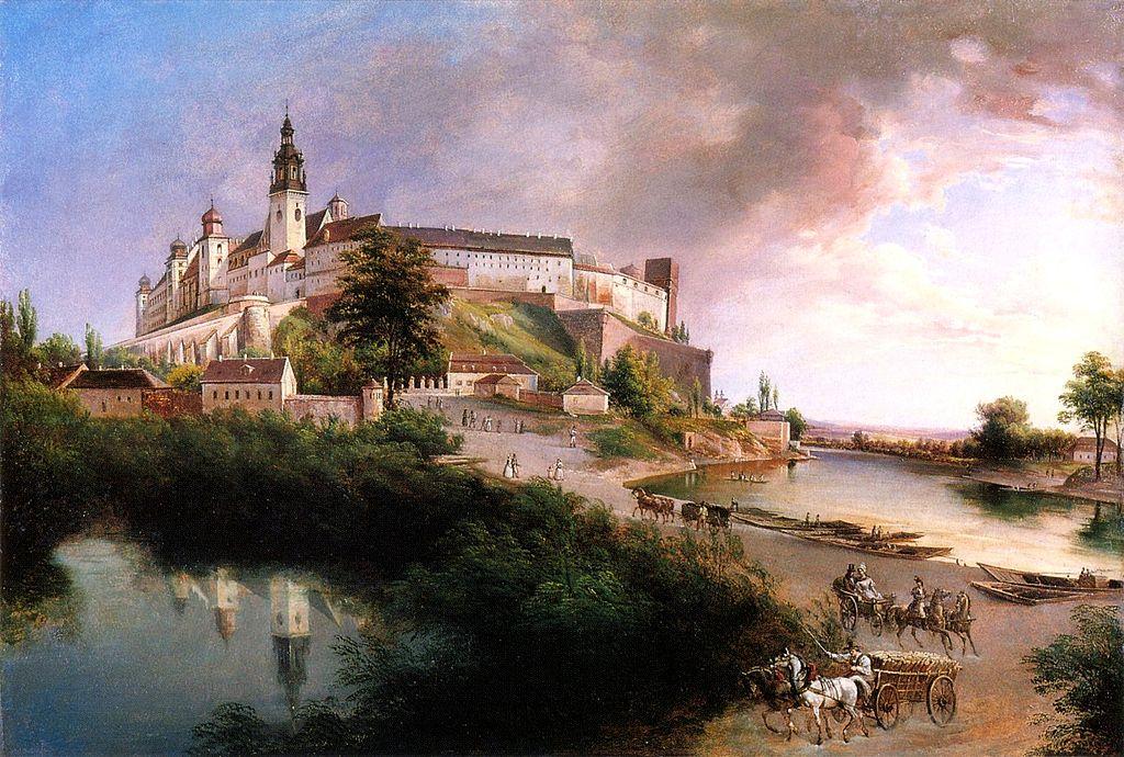 Wawel - średniowieczna siedziba królów Polski (1845)