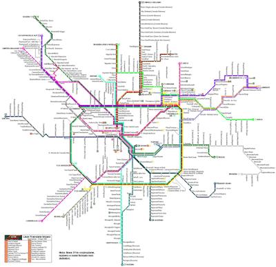 Mappa della Metropolitana di Milano
