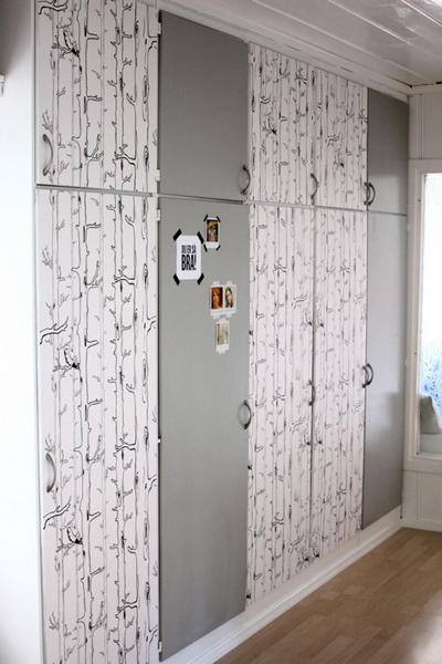 Blog de decora o arquitrecos renovando as portas dos for Papel para forrar armarios