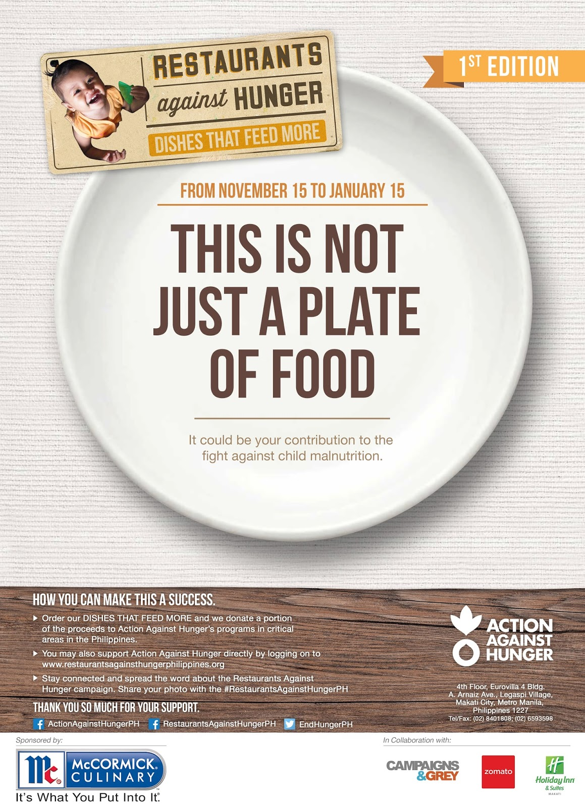 Restaurants Against Hunger