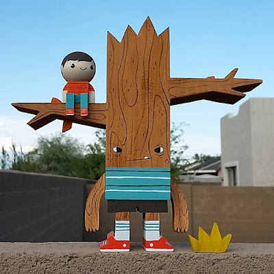 San Diego Comic-Con 2015 Exclusive Treeboy & Kid Wood Figure by Gary Ham