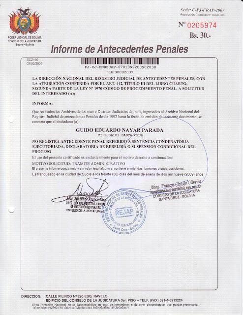 photo certificado de antecedentes penales ministerio del