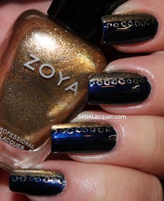 Lacy nail art using Zoya Ibiza and Ziv