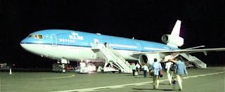 A KLM MD-11 in Kilimanjaro