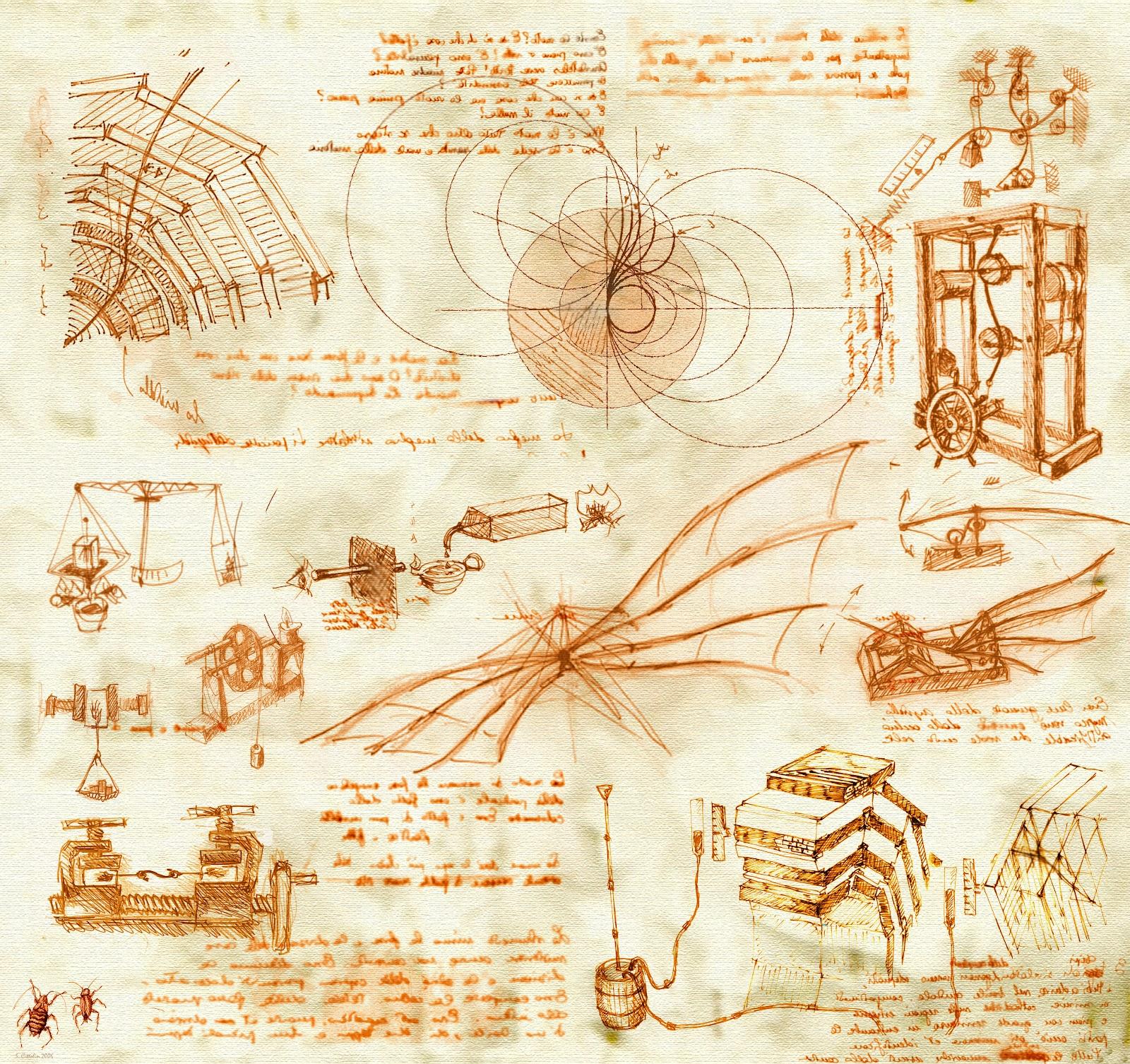 Leonardo da Vinci sketch by HatPup on DeviantArt