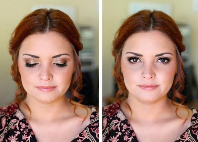 Wedding Hair and Makeup - bronzed eyeshadow