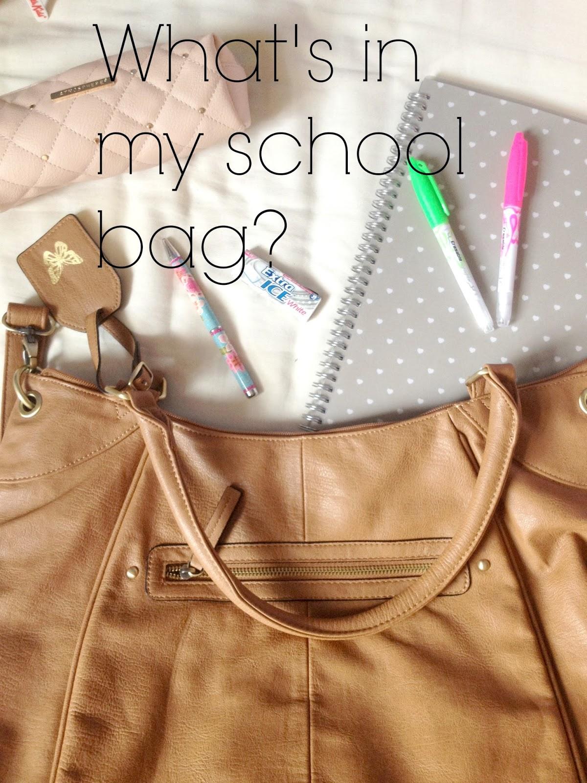 Handpicked beauty what s in my school bag