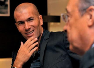 Zidane and Florentino at a meeting