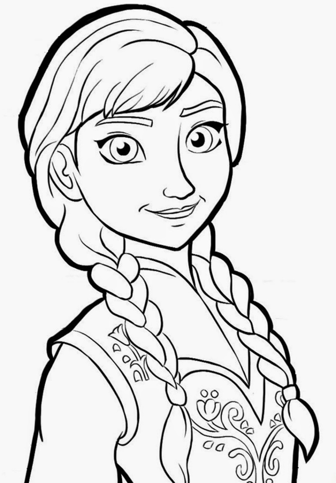 Free coloring pages of olaf anna