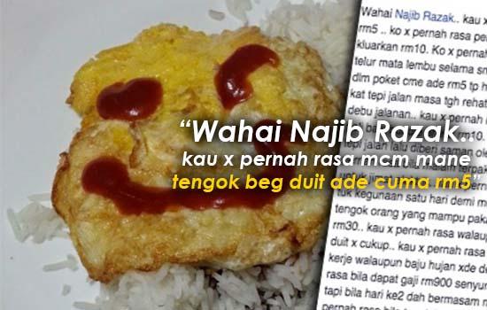 Luahan seorang rakyat Malaysia kepada Najib ini sangat menarik