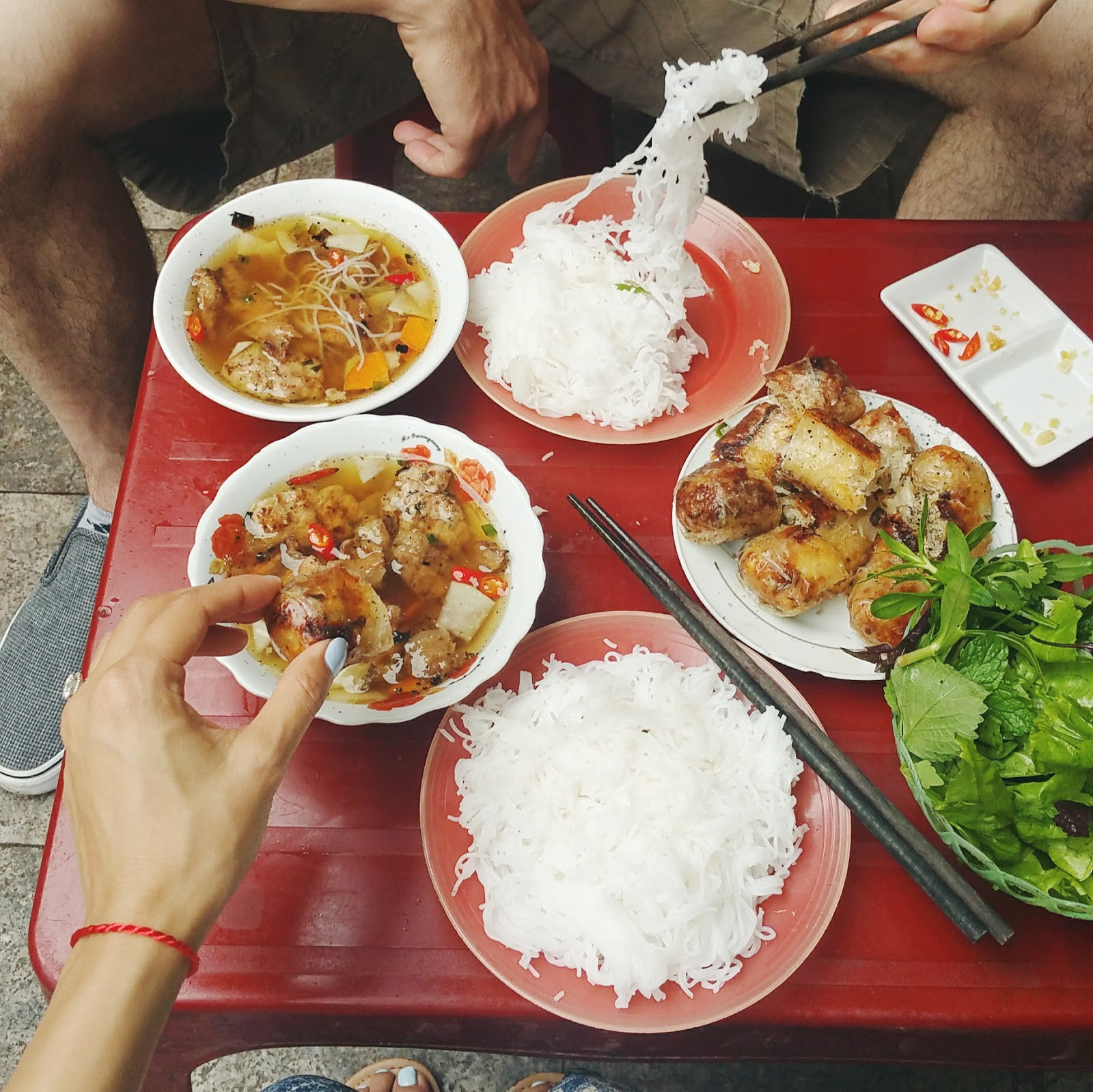 Honeymoon with the tasteful me street food in Hanoi, Vietnam