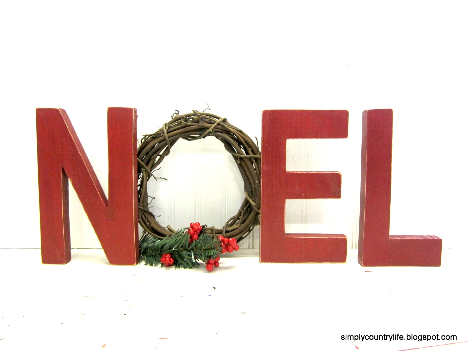 Simply country life noel letters from scrap wood and a - Alphabet noel ...