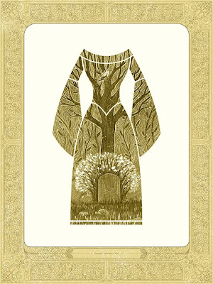 "Mondo Once Upon A Time Print Series - ""Cinderella"" Gold Variant Screen Print by Kevin Tong"