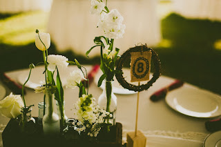 Vintage Wedding at Hermitage Isha Foss Events Floral Design White Green Flowers in Vintage Drawers