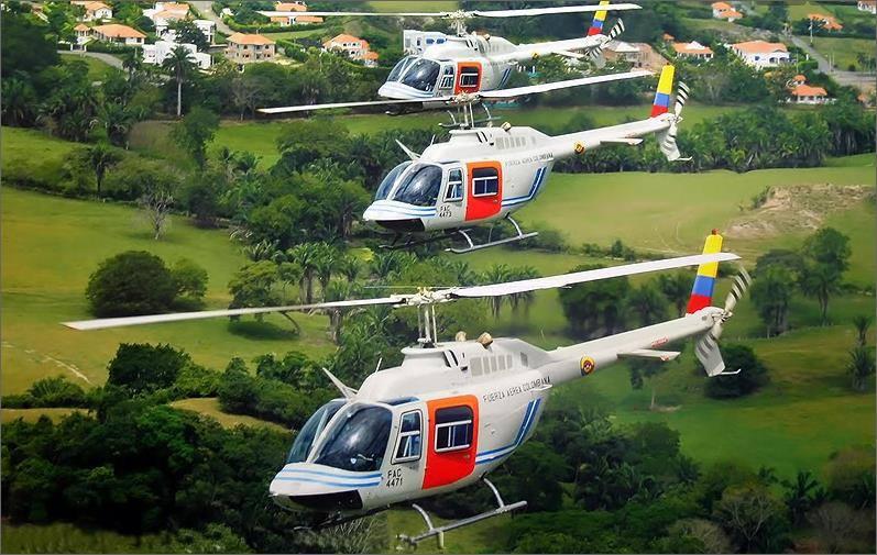 Helicópteros Bell 206 Jet Ranger de la Fuerza Aérea Colombiana