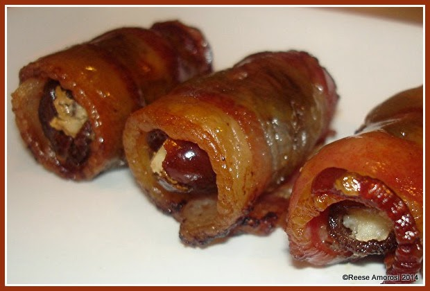 Glamorosi Recipes Bacon-Wrapped Dates with Honey Mustard Glaze