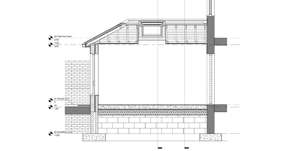 Spot Elevation In Plan Revit : Revit detail house extension section annotation