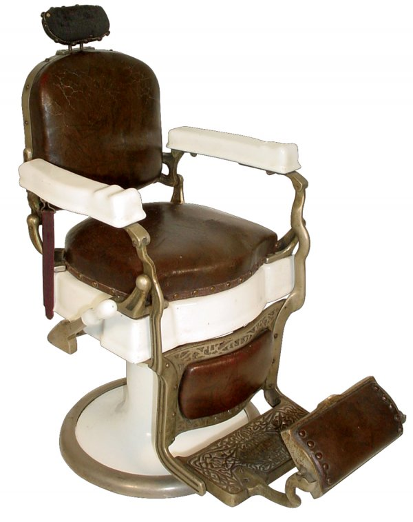 Antique Barber Chair - Barber Girl Photos: Antique Barber Chair