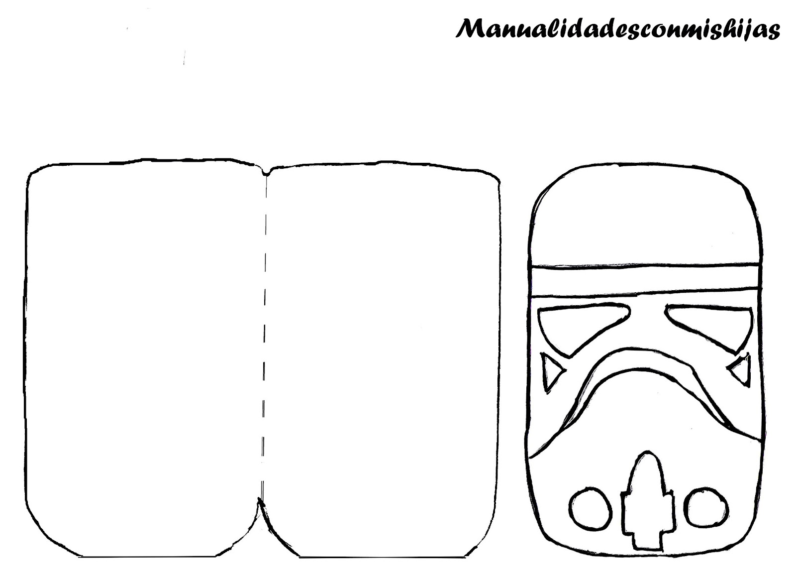 Funda de movil - Soldado imperial de Star wars - molde gratis