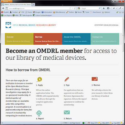Screen shot of http://www.omdrl.org/borrow.