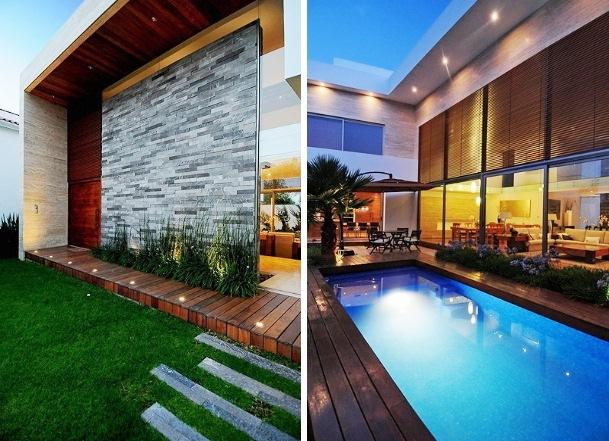 Fotos de fachadas de casas bonitas e modernas for Casa moderna 8