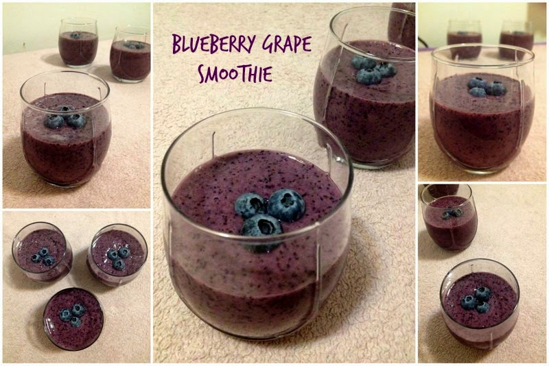 Blueberry Grape smoothie is a delicious refreshing drink. These fruits ...