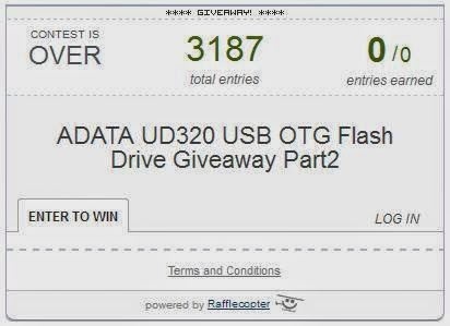 ADATA UD320 USB OTG Flash Drive Giveaway Part2 Winner