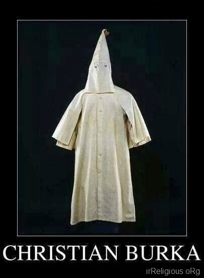 Funny KKK Christian Burka Joke Picture