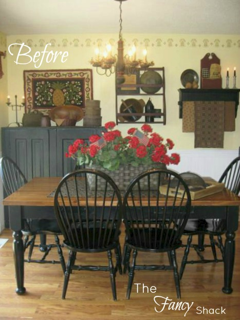 The fancy shack dining room reveal for Country kitchen dining room ideas
