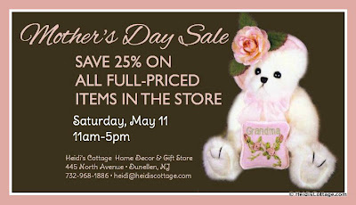 mother's day sale may 11, 2013 dunellen nj heidi's cottage