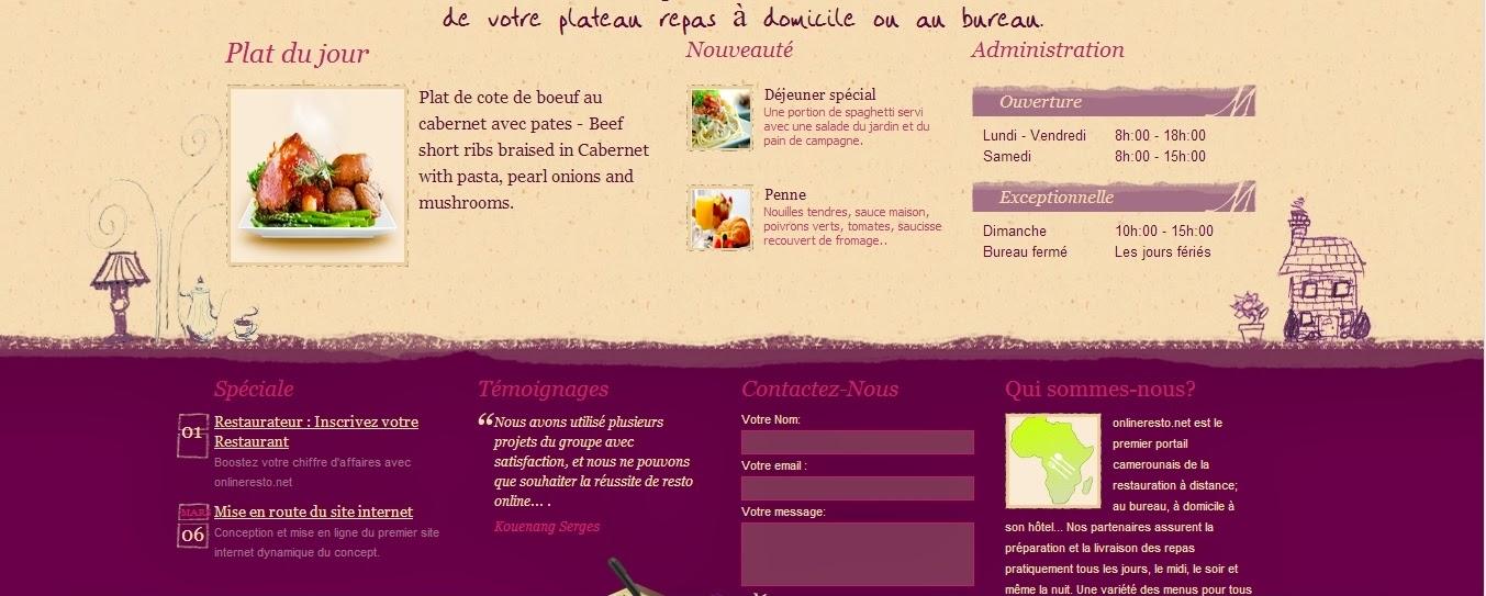 Menu de repas en ligne livraison domicile - Livraison de plats cuisines a domicile ...