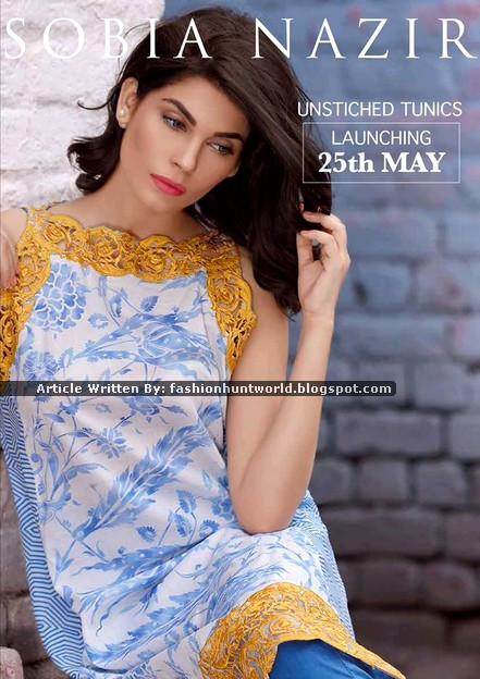 Sobia Nazir Unstitched Tunic Collection 2015