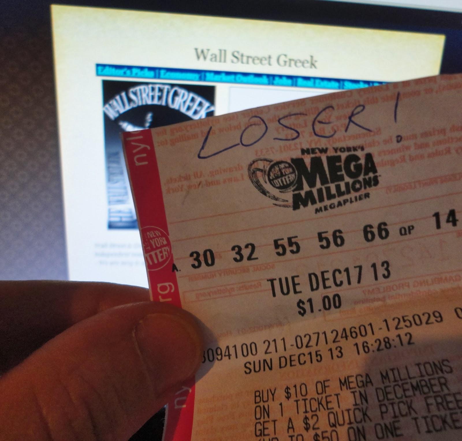 Wall Street Greek: Mega Millions Jackpot Winner
