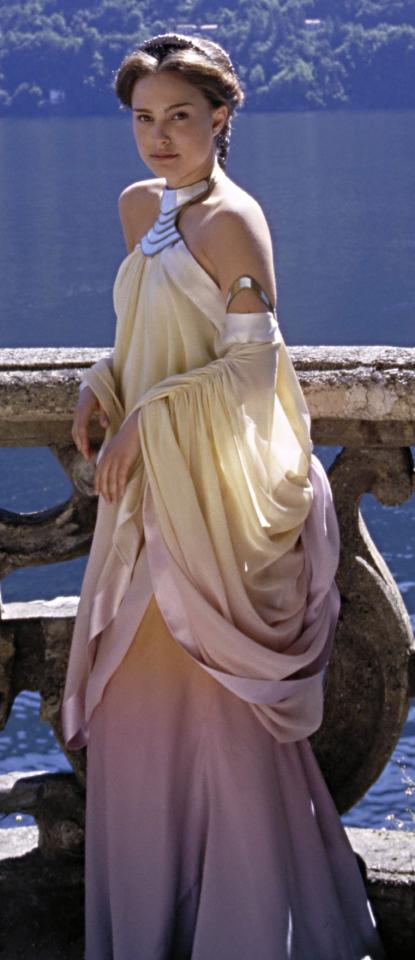 Star Wars Couture: Padme Amidala Pastel Rainbow Lake Retreat Gown ...