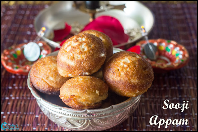 Rava Appam Recipe | Semolina Jaggery Appam Recipe