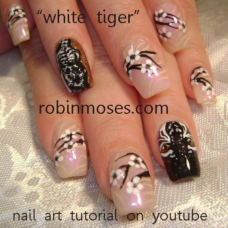 koi nail art orange blue bronze nail fish nail pink and teal wedding nail