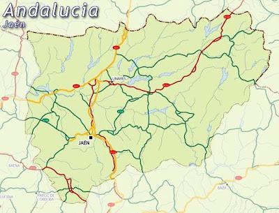 Jaen Andalucía mapa de la ciudad
