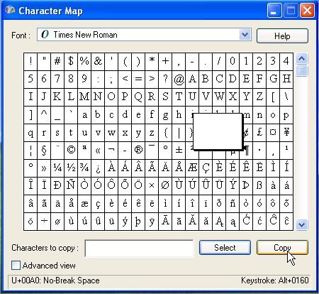 Hidden Character