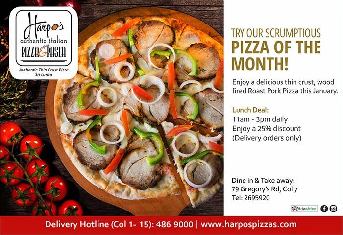Enjoy our special Pizza of the month - Call 486 9000.