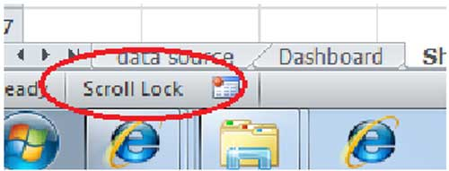 how to change scroll lock in excel