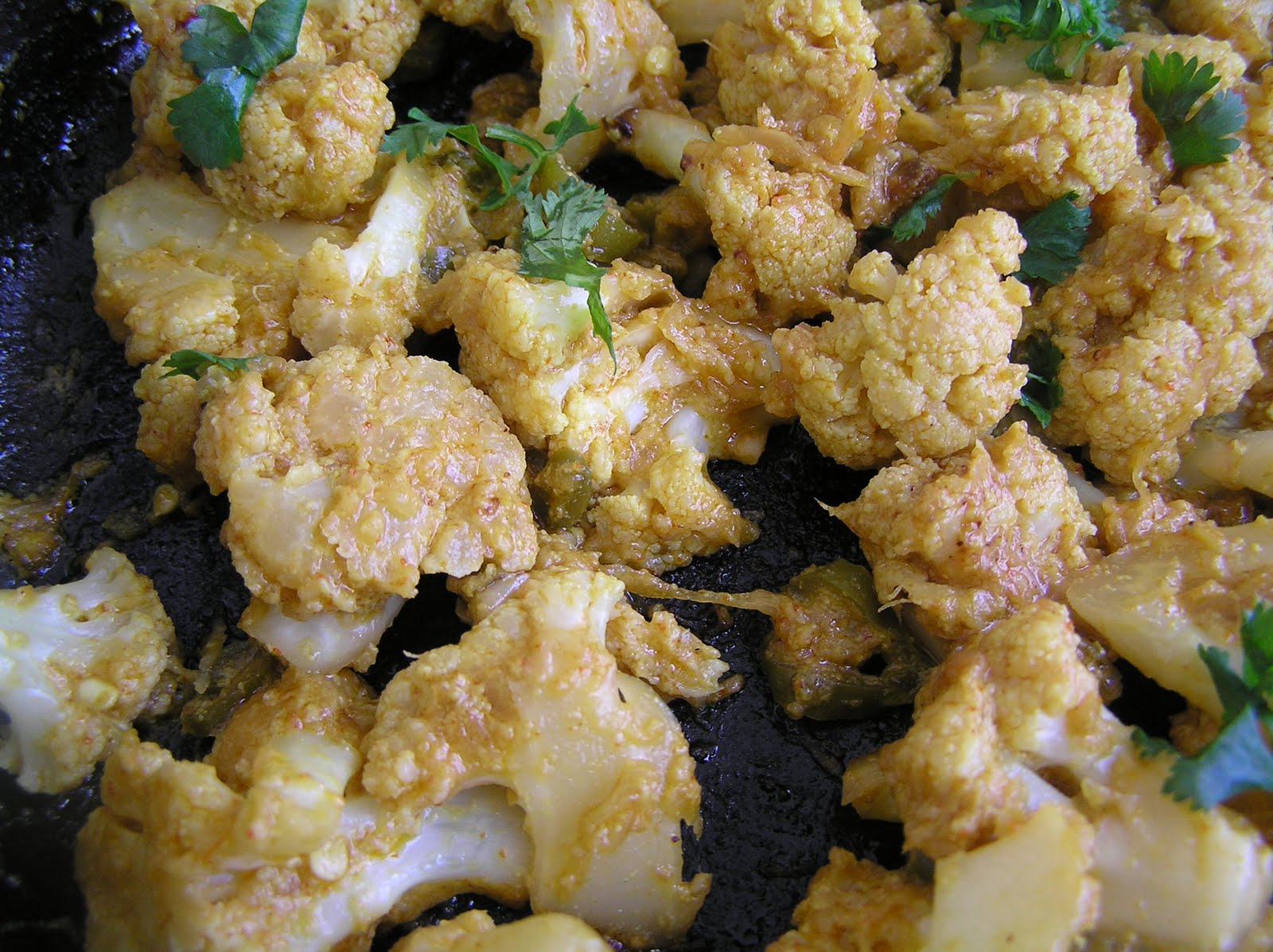 with yogurt and cauliflower is a very pan fried cauliflower with ...