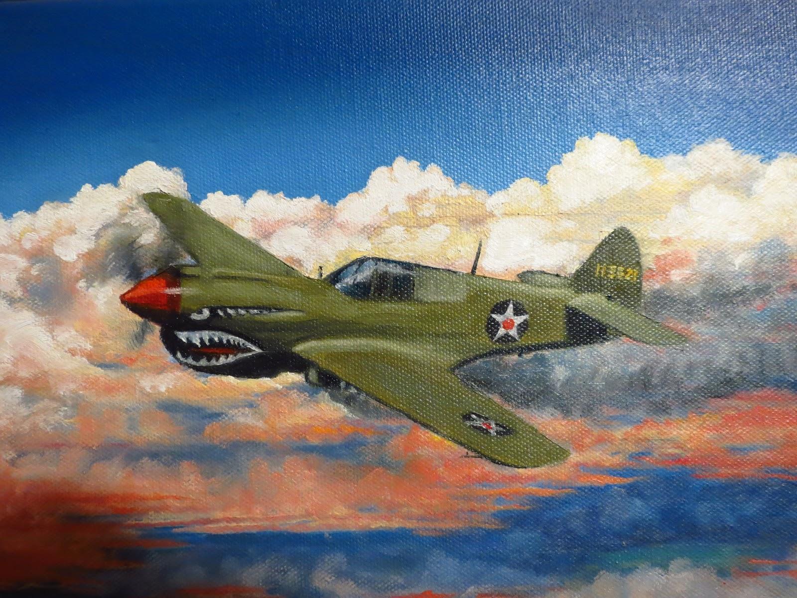 P 51 Mustang  Aviation Art