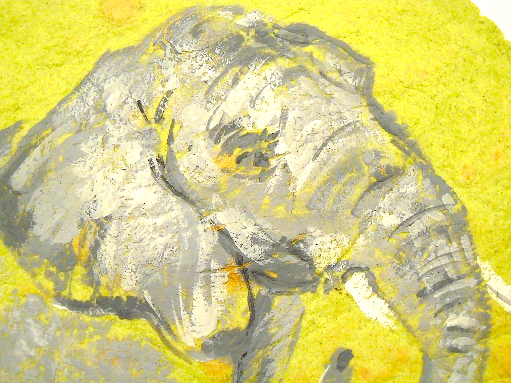 An elephant a day elephant no 264 tortilla art for Unusual painting techniques